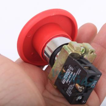 АСКО-УКРЕМ XB2-BR42 кнопка «грибок» (d 60 мм) «СТОП» красная - фото 4
