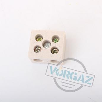 Керамические термостойкие клеммные колодки 2х2,5 - фото