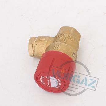 Prescor клапан предохранительный 3 bar 1-2 резьбовой - фото №2