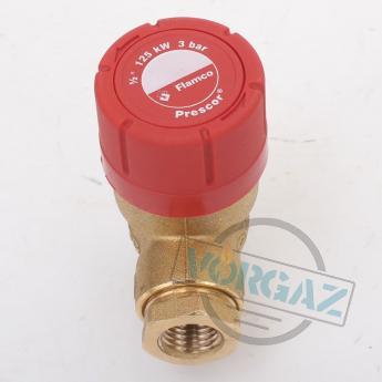 Prescor клапан предохранительный 3 bar 1-2 резьбовой - фото №4